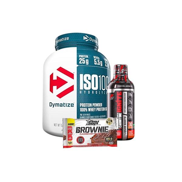 ISO 100 (5 lbs )+ L CARNITINA LIQUIDA (1500 MG)+ BROWNIE
